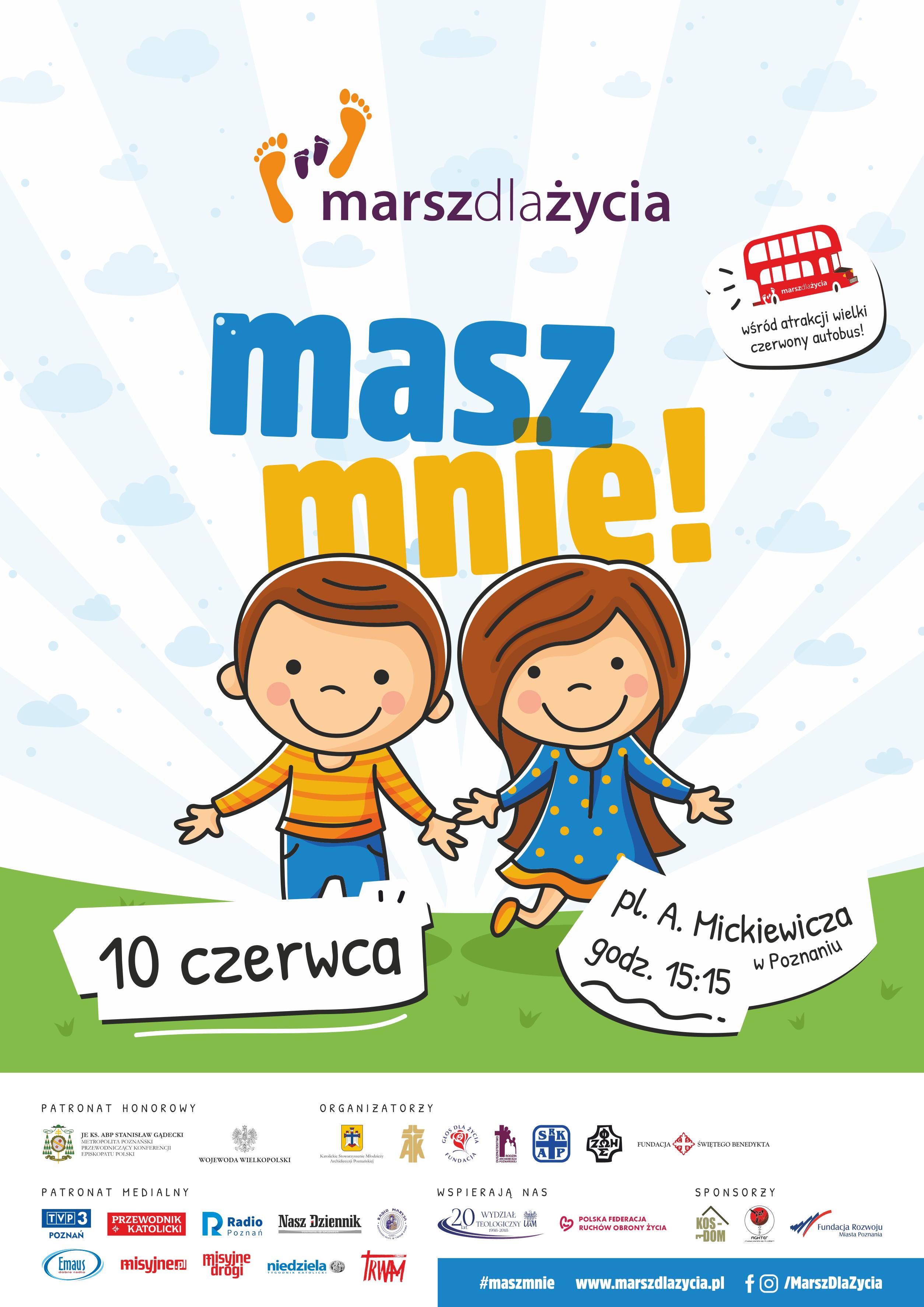 Plakat Marszu dla Życia 2018