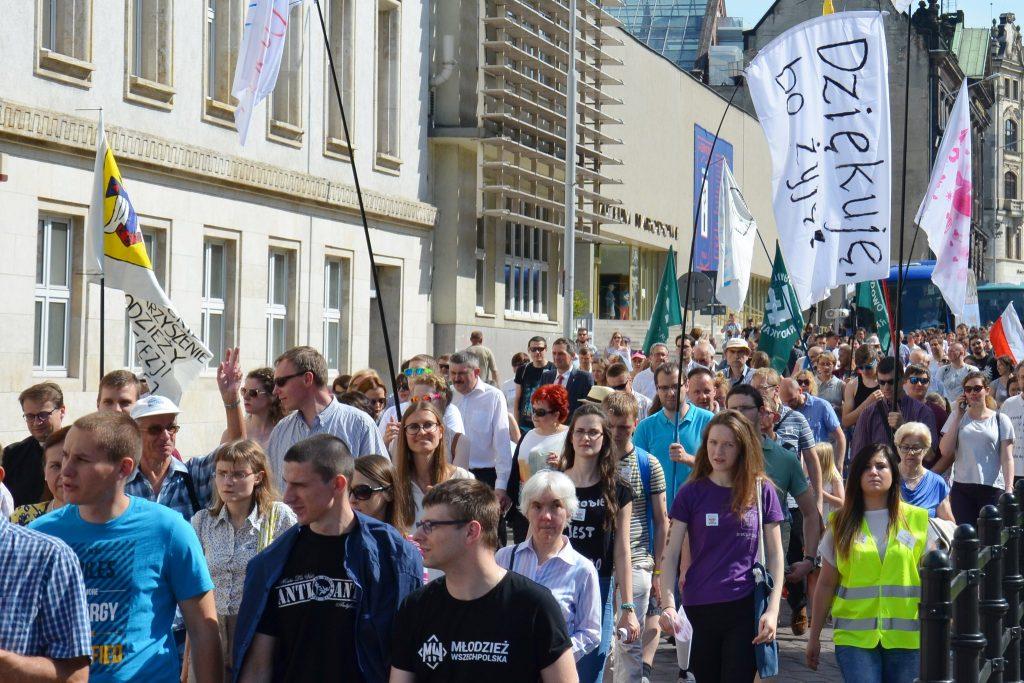 Marsz dla Życia wPoznaniu 2017, fot.M. Wytrzyszczak